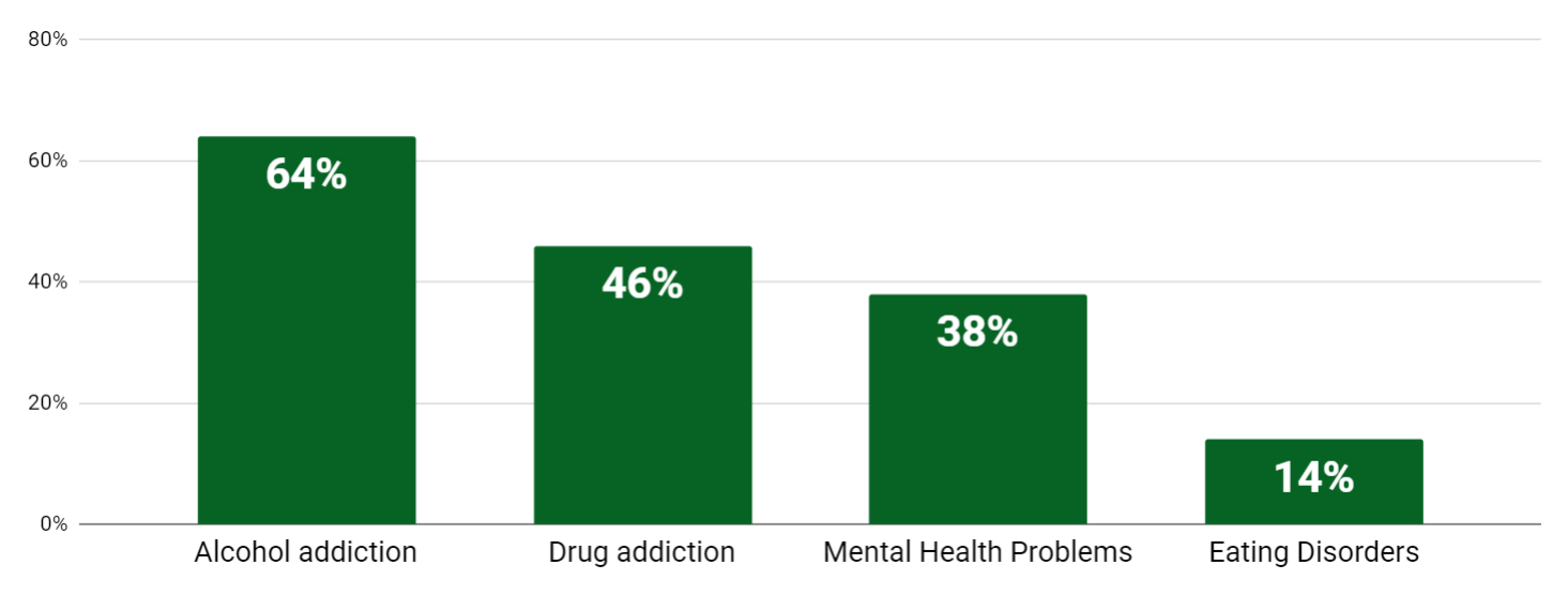 the most common addictions among celebrities in recovery