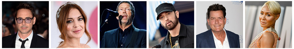 Celebrities In Recovery from drug problems